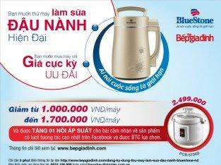 Giảm giá đến 60% máy làm sữa đậu nành BlueStone
