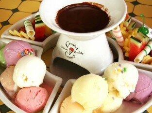 Lẩu chocolate hấp dẫn tại Cỏ Nội Garden