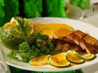 Tinh tế món vịt sốt quýt Mandarine