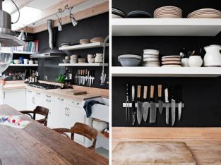 10 cách tận dụng khéo léo không gian bếp để lắp kệ bếp