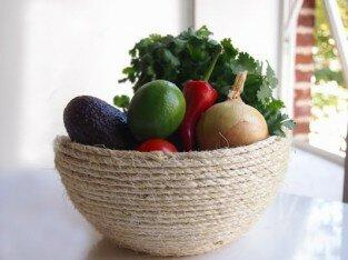 Tự làm tô đựng trái cây bằng dây thừng