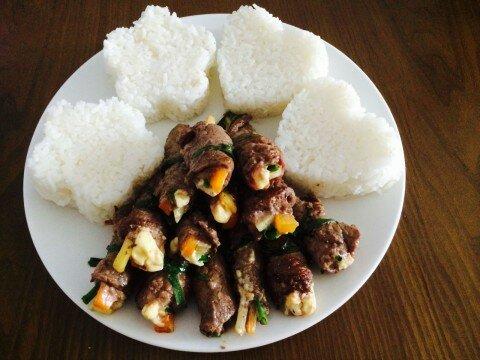 Bò cuộn phô-mai