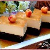Bánh flan cốt dừa bông lan chocolate ngon hơn tiệm