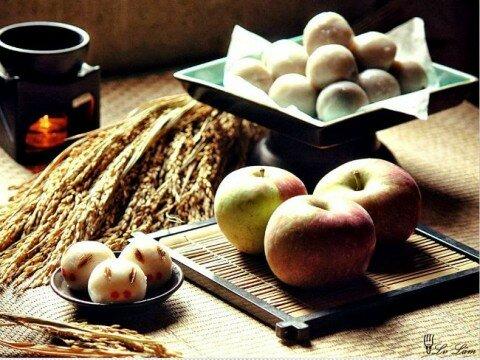 Bánh trung thu Tsukimi-Dango của Nhật