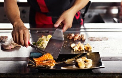 nghệ thuật teppanyaki ở Kissho