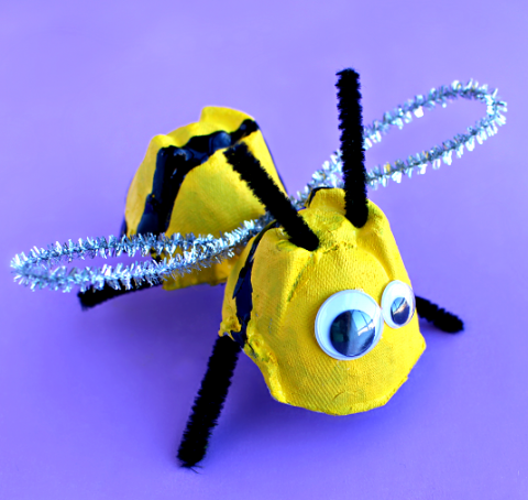 egg-carton-bee-craft-for-kids-