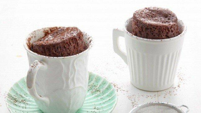 5 phút với bánh cốc chocolate thơm lừng