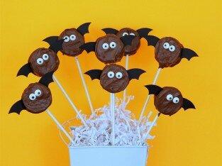 Vui mắt với tạo hình Oreo hình dơi cho tiệc Halloween