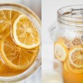 5 phút cho ly trà chanh mật ong thông cổ ngày mưa