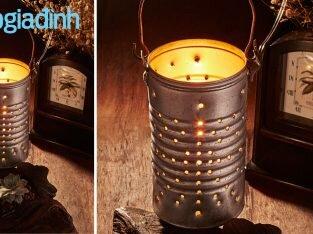 Tết Trung thu: 3 bước tạo hình chiếc lồng đèn lon độc đáo