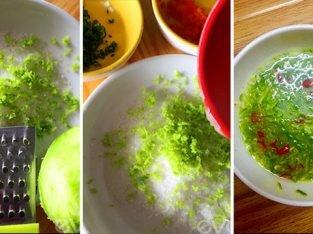 Cách pha nước chấm chanh ớt ăn với thịt gà luộc