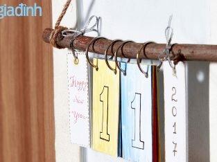 Làm lịch treo tường xinh xắn đón năm mới
