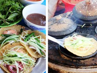 """""""Soi"""" điểm khác biệt giữa bánh xèo Phan Thiết & Phan Rang"""