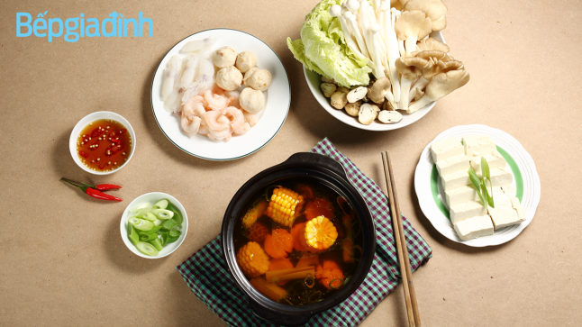 Món chay: Cách nấu lẩu hải sản chay ngon